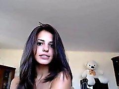 Рогатый Аппетитный девушка веб-камера живого шоу