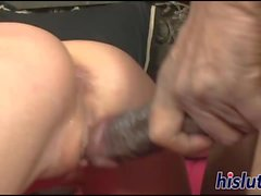 Seductive Raylene has her tight snatch plowed