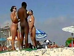 Tourists fawning over Big Black Dravidian Penis at Goa