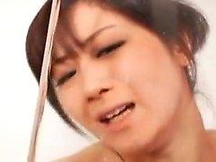 Wild Asian girl with big boobs has a fiery twat needing to