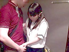 Petite barelylegal asian schoolgirl grinding