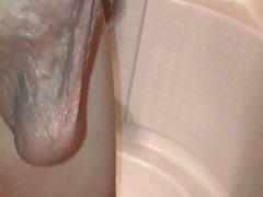 Huge cock and balls in shower pt.1