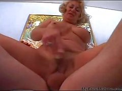Granny Tit Dana Loves His Cock And Cum