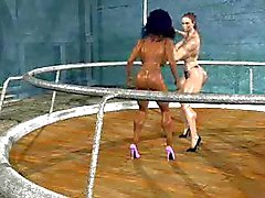 FPZ3d M vs G Catfight toon fistfight Girlfight