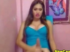 11 Inch Cock Shemale Webcam Cum