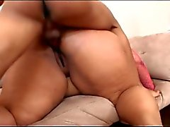 Heavyset bitch shows her luscious titties and ass