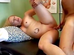 Sexy blonde MILF Heidi enjoys a facial