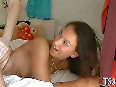 Pretty teen student bonks with tutor