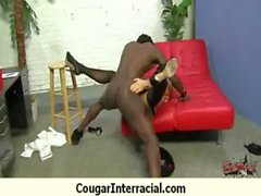 Cougar with Big Tits Seduces Young Black Guy 1