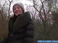 PublicAgent Outdoor sex with a sexy women in nylons