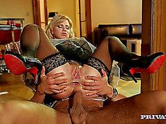Blond Maid anal sex
