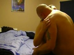 Chubby Couple Fucking In Bedroom