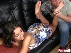 Stephanie Moretti Gives First Time Footjob for FuckedFeet!