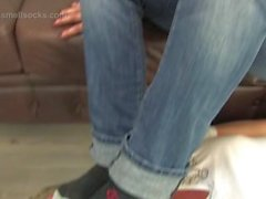Tura's worn socks smelling torture