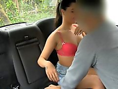 Pretty passenger gets her pussy screwed by nasty driver