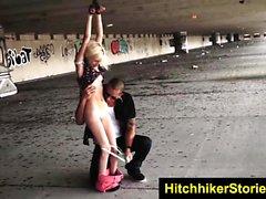 HelplessTeens Sabrina public bondage sex