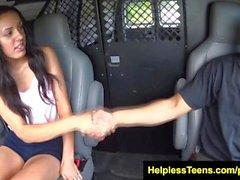 HelplessTeens Danica James bondage sex outdoors