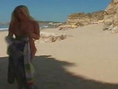 Angel masturbating at the beach Alison Angel