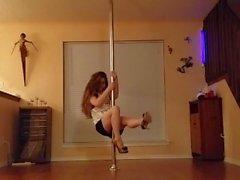 Striptease at pole dance - The most sensual strip by a woman - Amateur