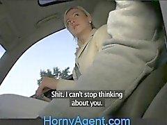 HornyAgent Blonde Ex-Girlfriend Rides my Cock in my Car