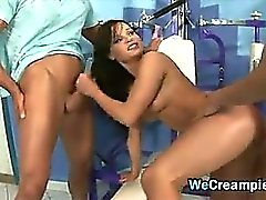Hot Threesome Creampie