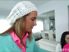 Naughty teen babysitters fucked by the master