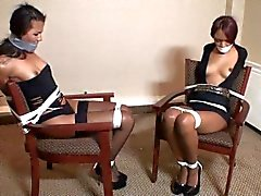 two ebony beauties bound and gagged