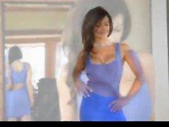 Denise Milani in blue Dress - non nude