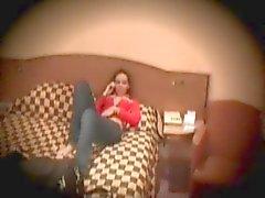 Girl Masturbates in Hotel Room