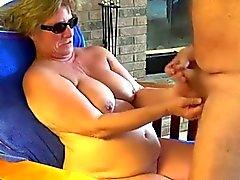 Бабушка Глава № 23 ( Сидения в кресло давая BJ )