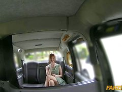 Kinky redhead pounded for her taxi fare