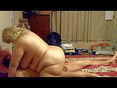 bbw old mature plays with her husband