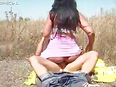 Horny MILF gets fucked hard outdoor free part3