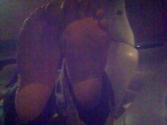 Drunk lady at the bar feet!
