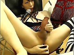 CD de asiática com o big cock O