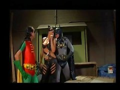 Batman, Robin, Catwoman threesome