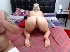 Lovely Blonde Teen Toying Ass amp Pussy DP