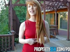 PropertySex - Redhead real estate agent enjoys performing sexual favors