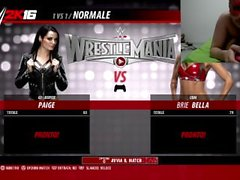 Gameplay wwe 2k16 - Paige vs Brie Bella (sexy)