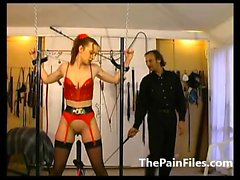 Rough whipping and slave sex