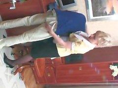 Mature maid and boy