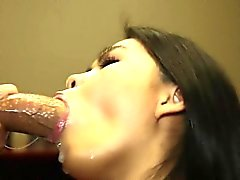 Chicks insistence blowjob is driving hunk crazy with lust