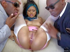 Screaming asian hooker Krissie gets nailed by Sean and Prince