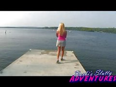 Barbi Waiting for Boat Slutwife Shows Off