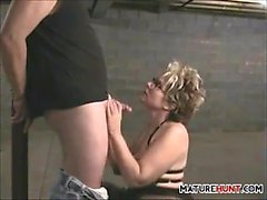 Mature Slut Sucking Cock For A Facial