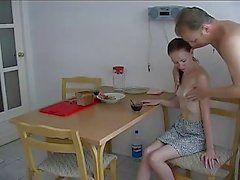 Russian Girl Suck And Fuck With Daddy For Breakfast