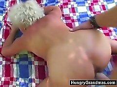outdoor fuck for 65yo granny