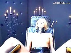 Slave Girl Tied To Chair Getting Her Pussy Fisted Fucked With Gesa Balls And Strapon By Mistress In The Dungeon