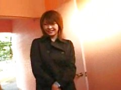 Shy busty Asian girl