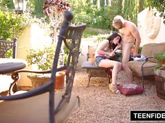 TEENFIDELITY Heather Night Creampied Twice